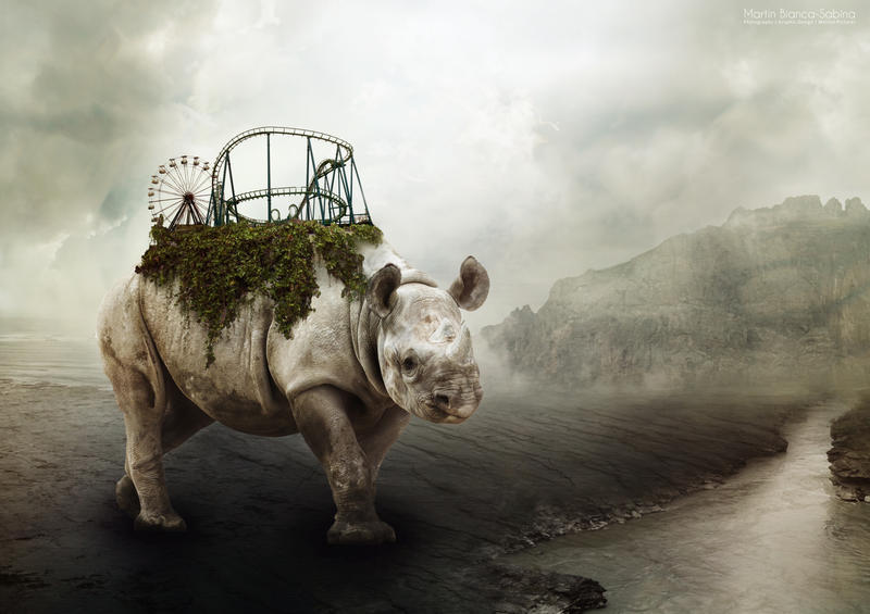 Rhino by OtravitusBianca