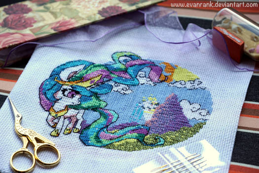 [OPEN] My Little Pony Celestia Cross Stitch