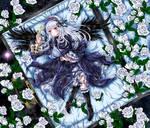 Suigintou white roses