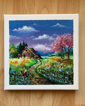 Traditional Art: Little House on the Prairie