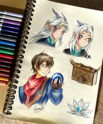 Fanart: Dragon Prince Callum and Rayla
