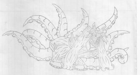 Eight-Tailed Bull Octopus by shadowlord345