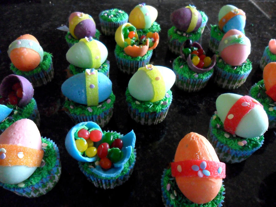 Easter Egg Cupcakes by Celesta1805