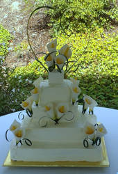 Calla Lily Cake by Celesta1805