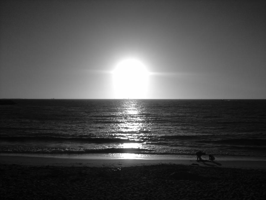 Black And White Photography Beach Sunset Black And White Summer Sunset
