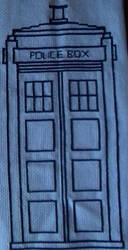 The TARDIS Cross Stitch