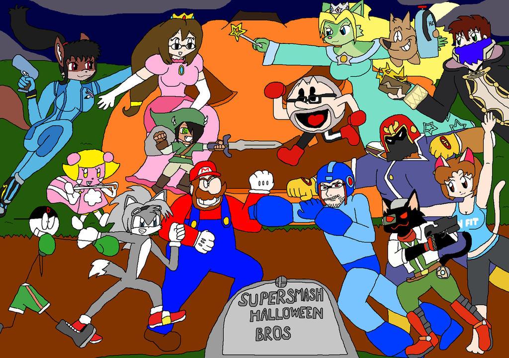 super smash halloween bros by ginzo25