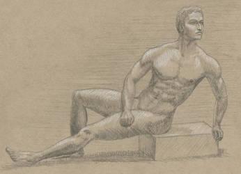 Male nude Sketch by maarkb