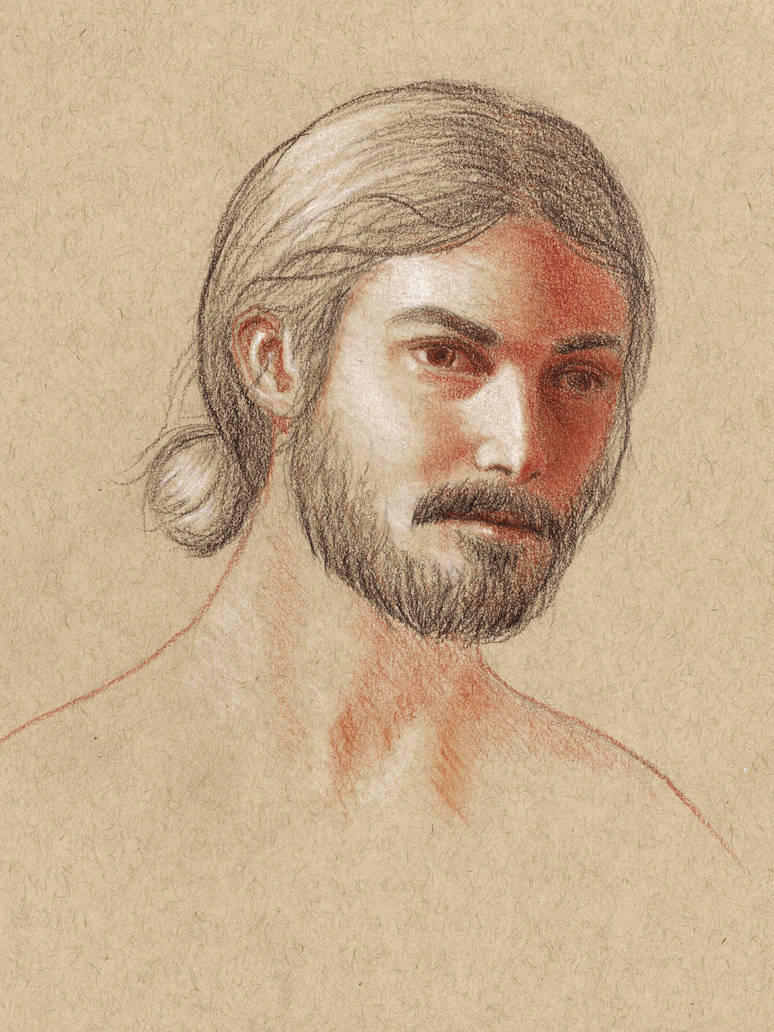Self portrait drawing by maarkb
