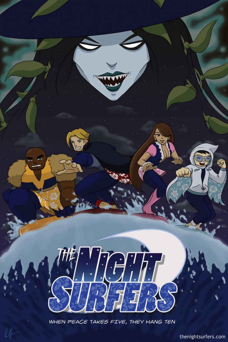 The Night Surfers - Poster A