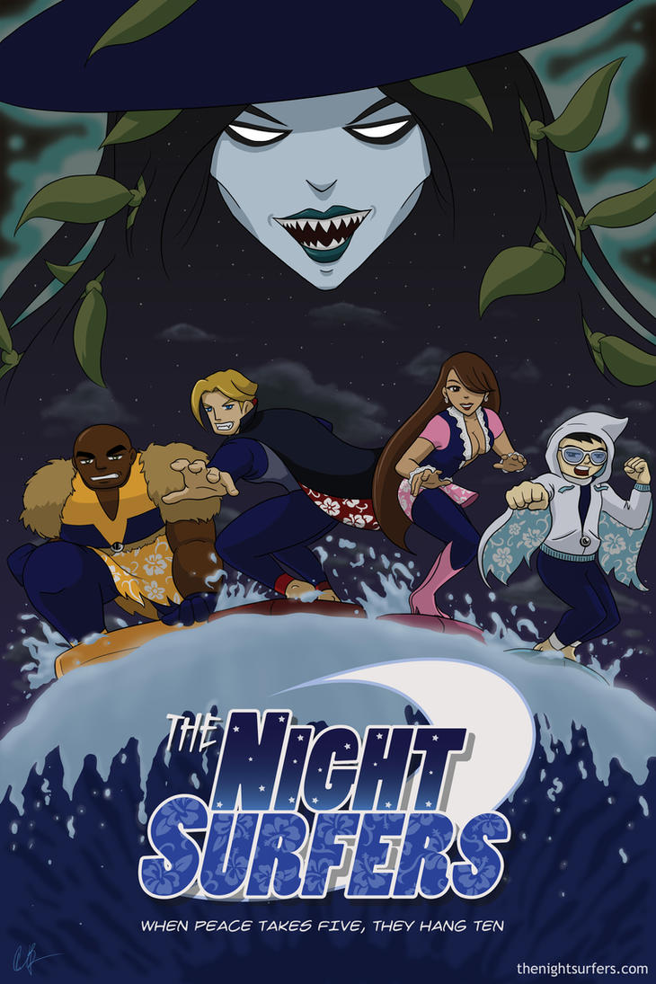 The Night Surfers - Poster A by mrgoggles