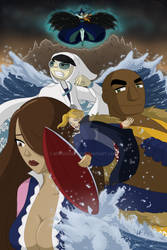 The Night Surfers, Issue 4 Cover