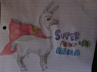 Super Albino Llama by pikachuafwc