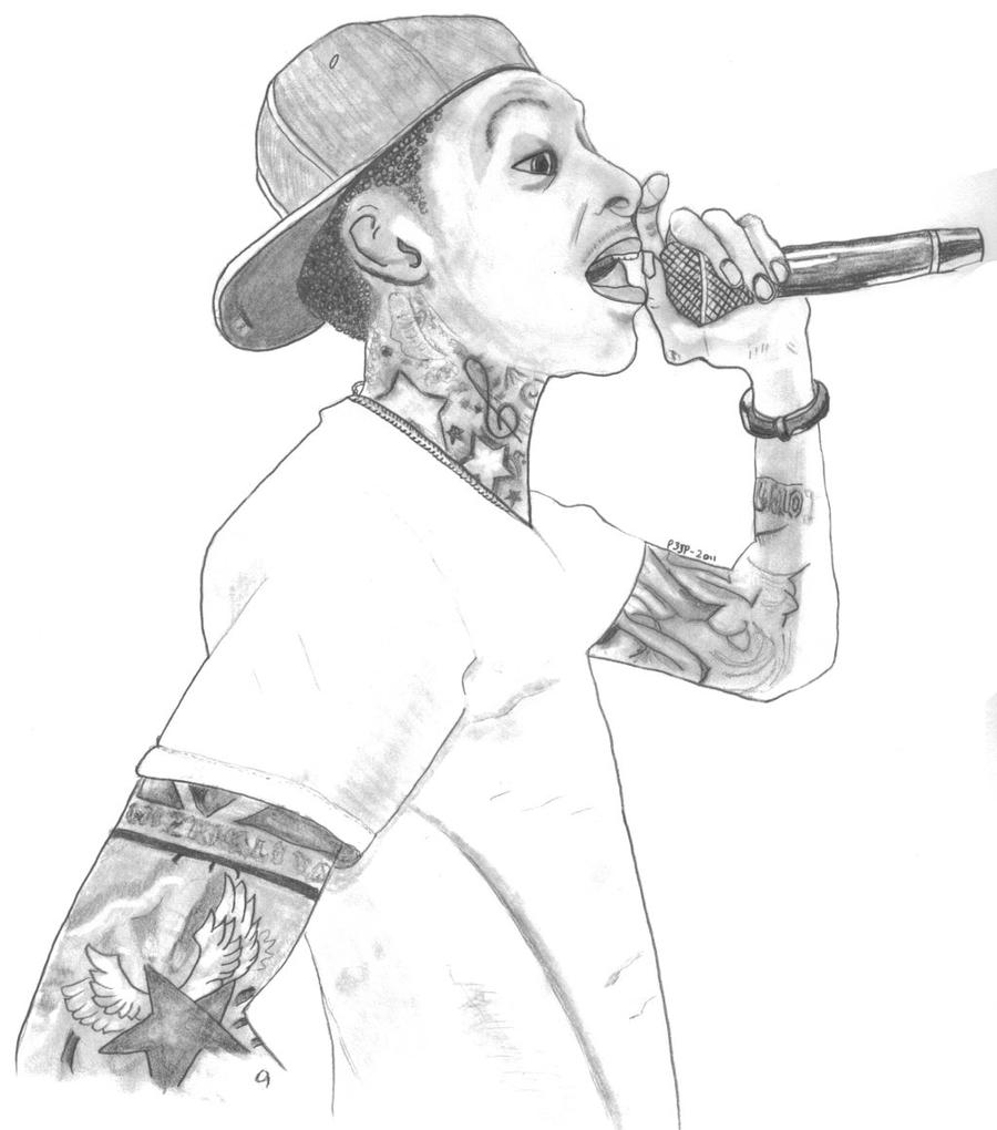 Drawing Of Wiz Khalifa 2017