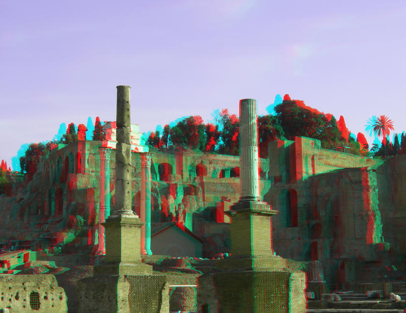 Forum Romanum 2 3D Anaglyph by yellowishhaze on DeviantArt