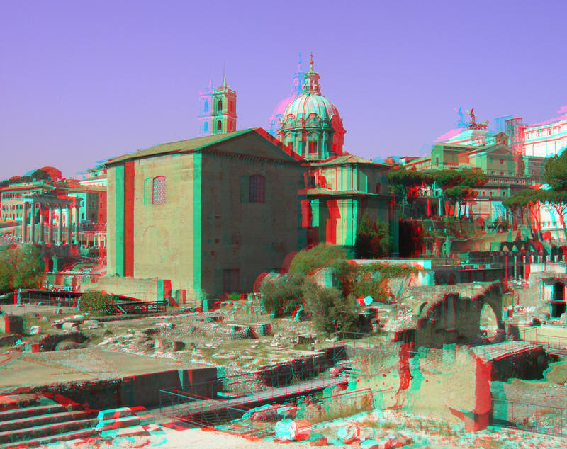 Forum Romanum 5 3D Anaglyph by yellowishhaze on deviantART