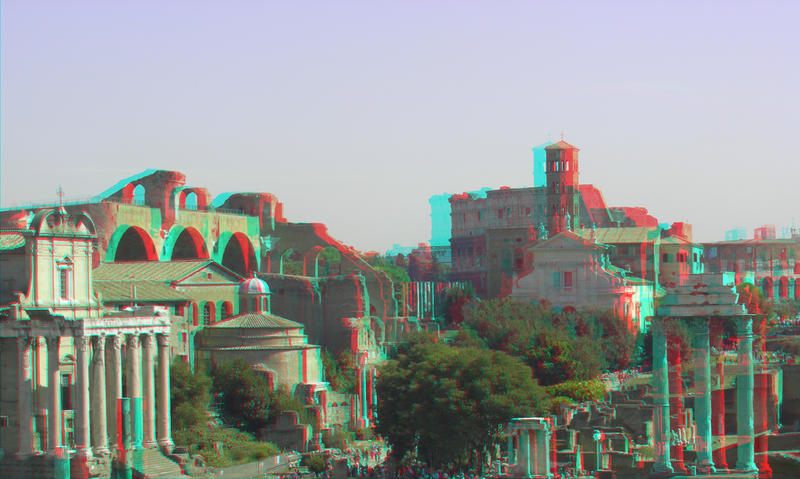 Forum Romanum 8 3D Anaglyph by yellowishhaze on DeviantArt