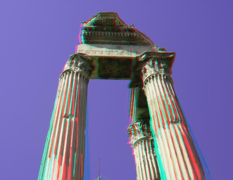 Forum Romanum 10 3D Anaglyph by yellowishhaze on deviantART