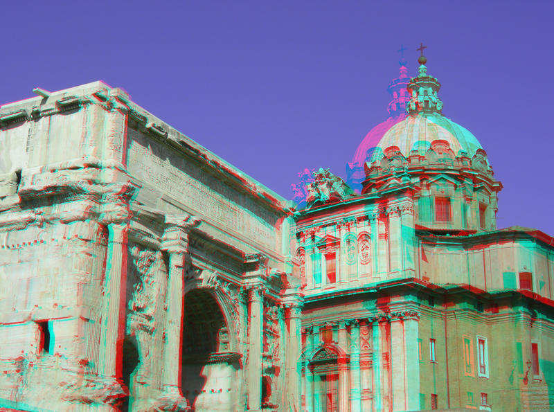 Forum Romanum 11 3D Anaglyph by yellowishhaze on deviantART