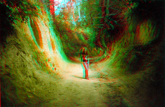 The gorge 3D Anaglyph