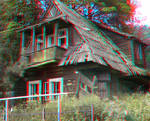 Mountain Cottage 3D Anaglyph