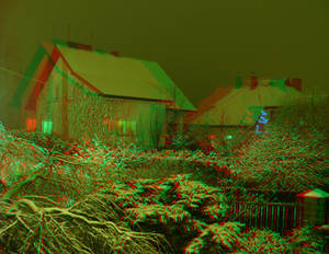 Snow 3D Anaglyph