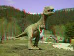Dinosaur 3D Anaglyph