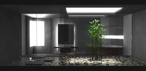 Dark Bamboo Bathroom