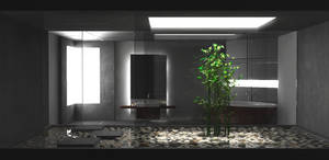Dark Bamboo Bathroom by jojo1020