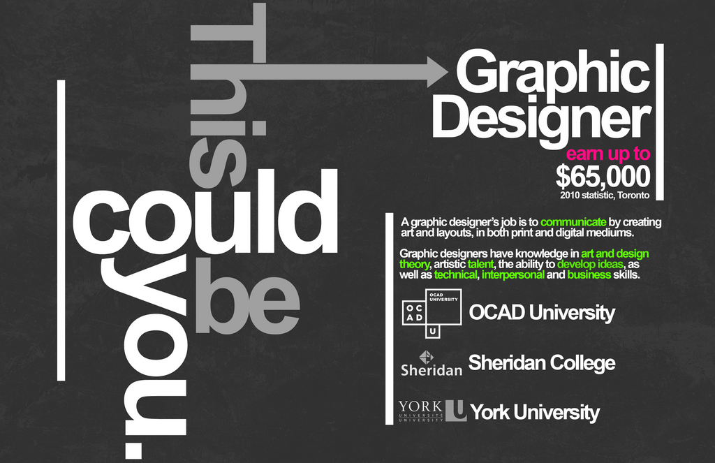Toronto Graphic Designer Promotional Poster by Luminosis ...