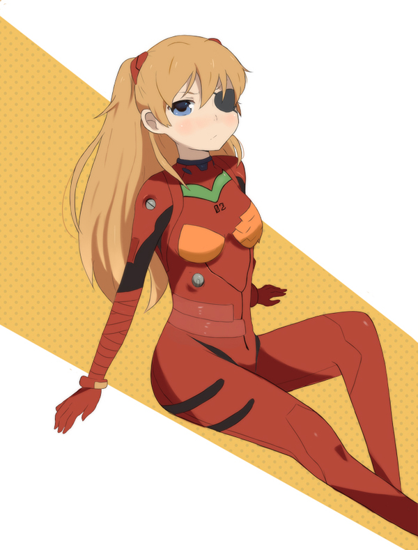 EVA: Eyepatch Asuka by OffTheChain2