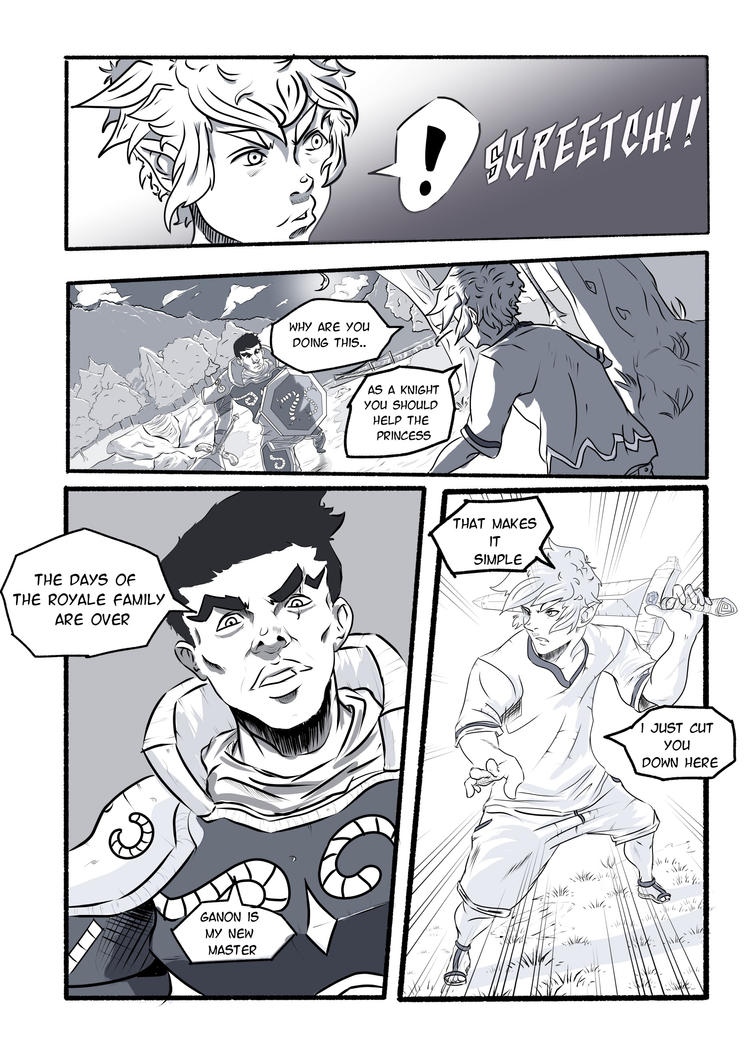 Zelda Practice Page 1 comic by lamAble
