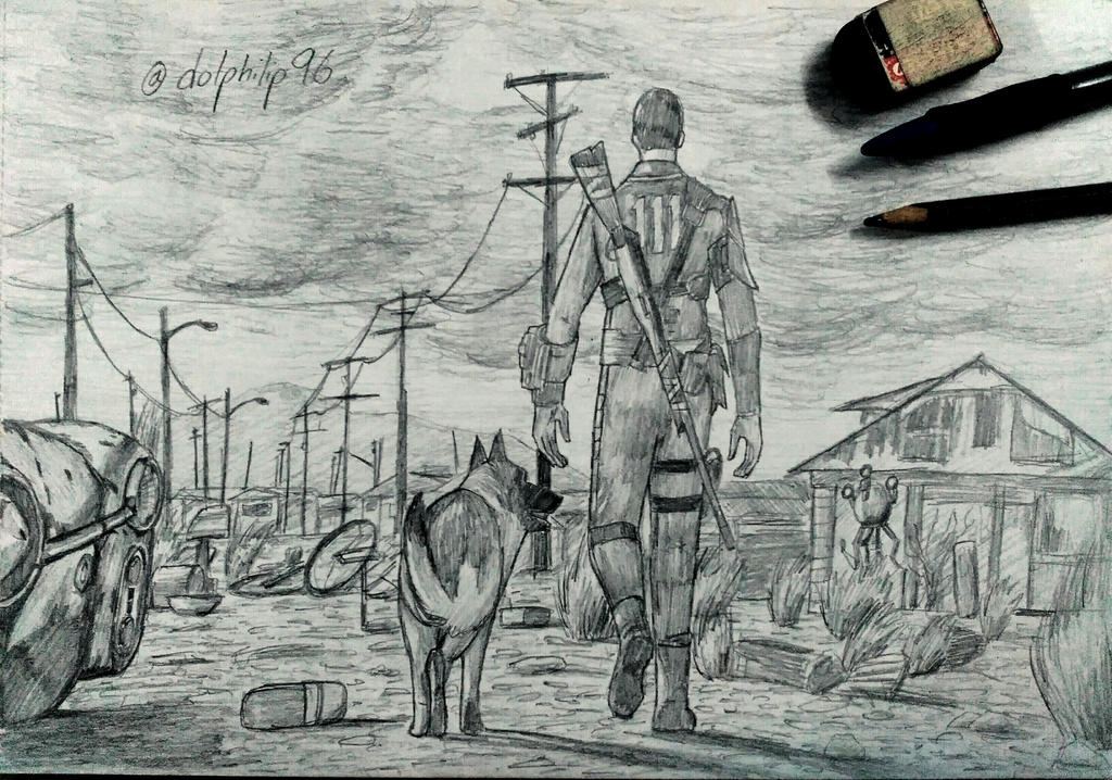 Fallout 4 drawing by sketchydolphin96 on DeviantArt