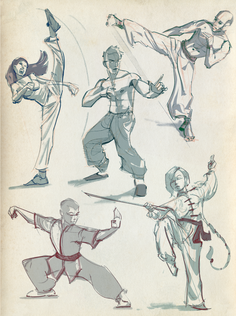 Gestures 01: Kung Fu Fighting! by lyteside