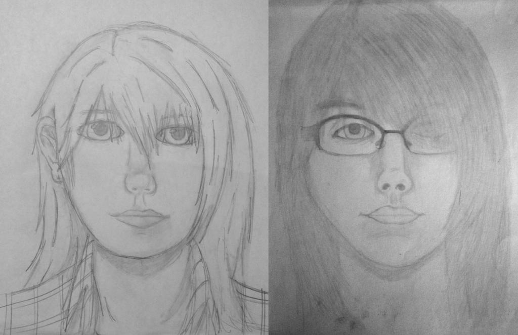 Self Portrait Before and After by SlayersStronghold