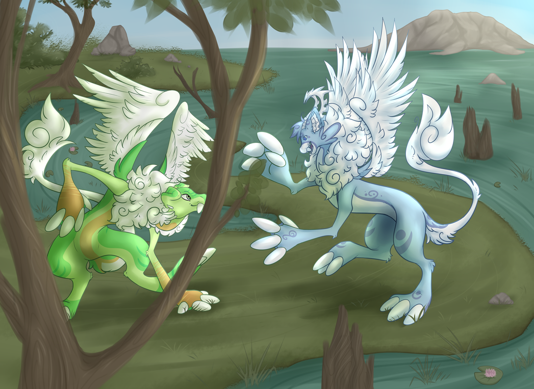 Marshland Sparring by SlayersStronghold