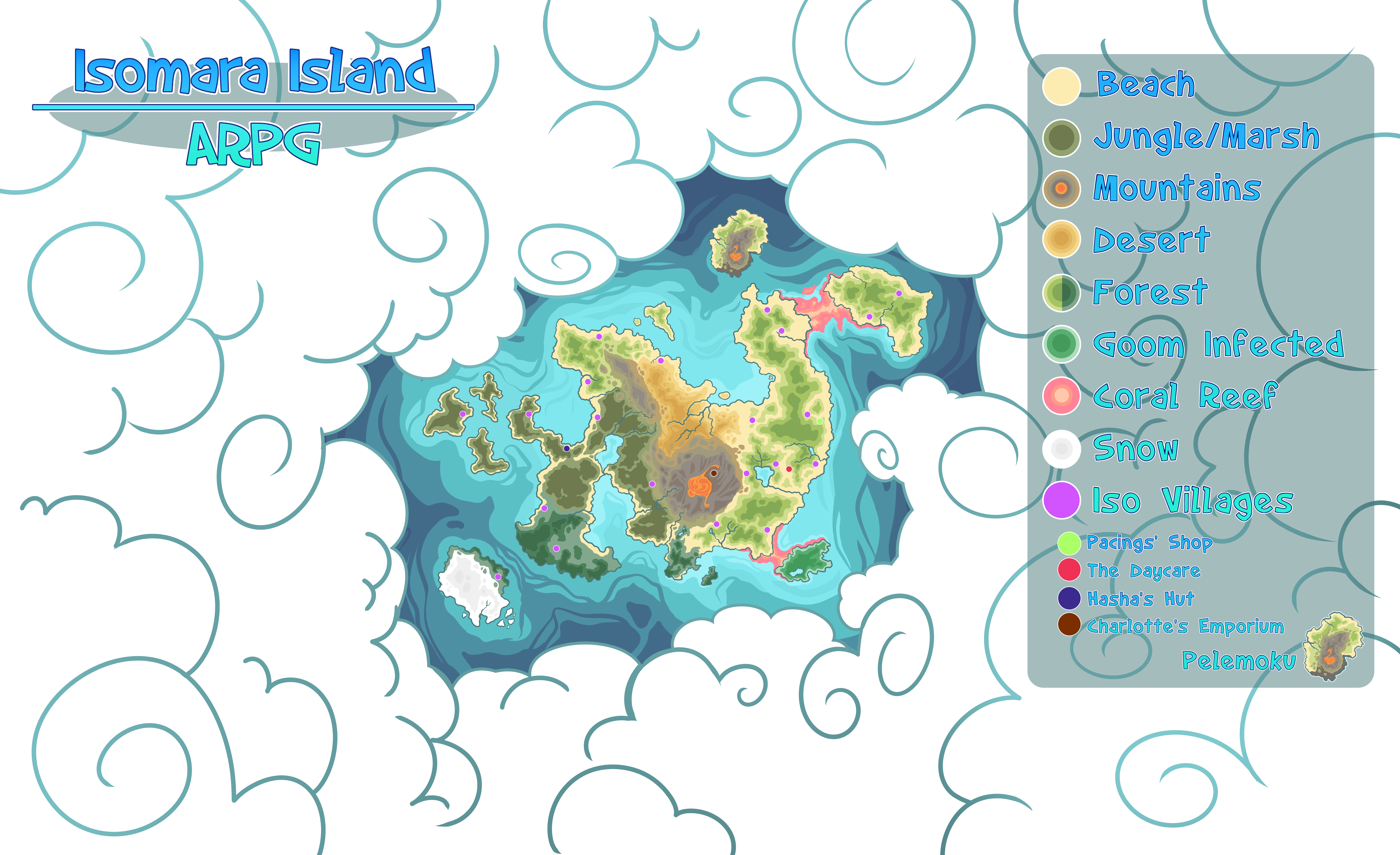 Isomara Island Map by SlayersStronghold