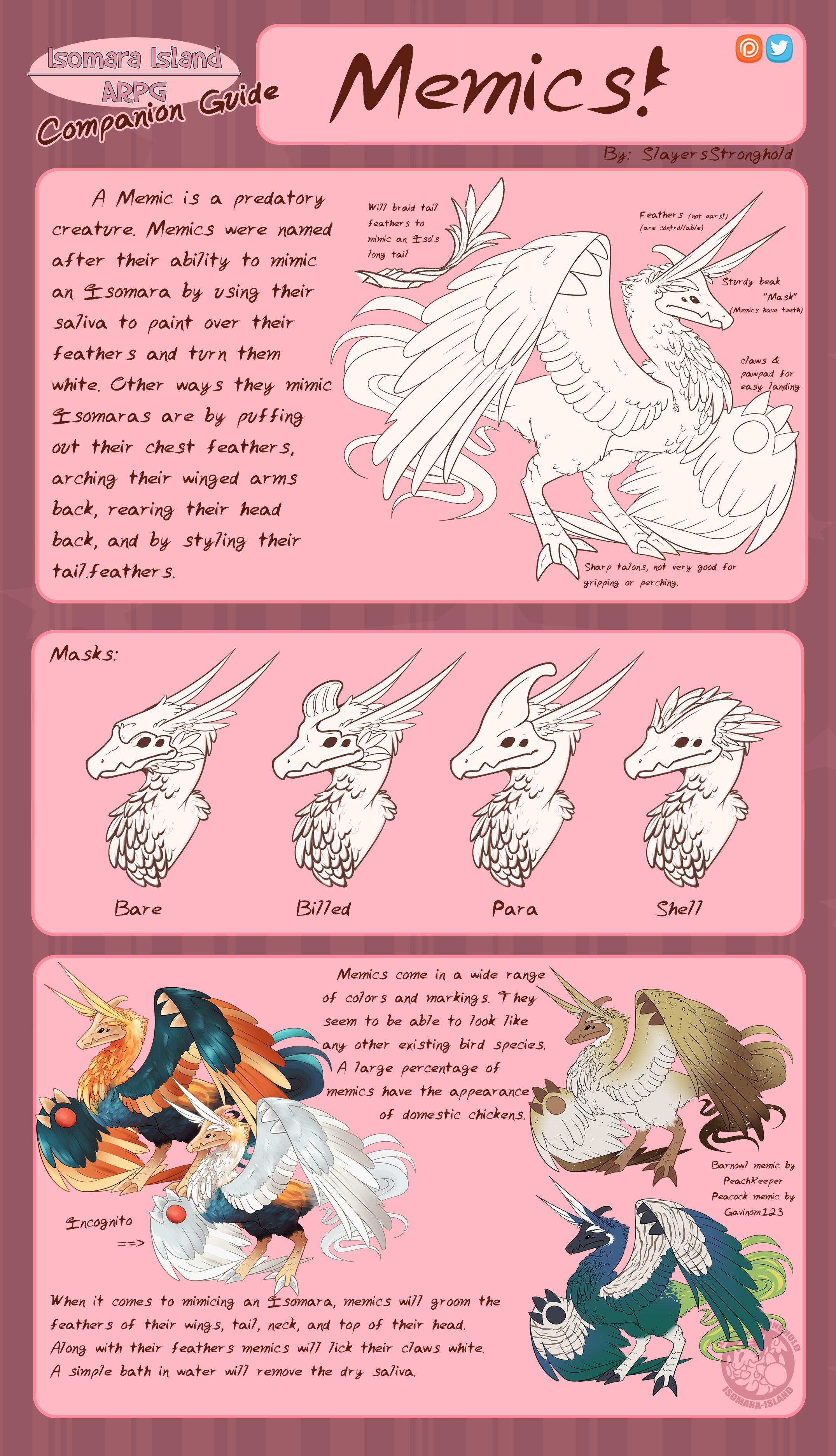 Memic Species Guide by SlayersStronghold