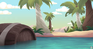 Diamond Clear Water and Sands of Time Background by SlayersStronghold