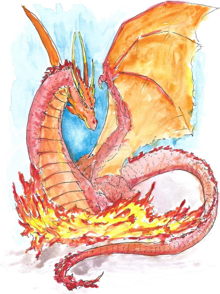 Fire Dragon by dragonsculptor