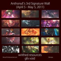 April Signature Wall