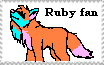 Ruby fan Stamp by Rubylockheartwolf