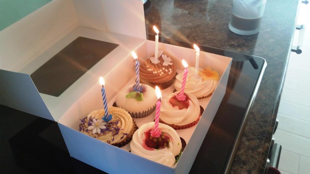 Birthday muffins by DevilGirl15