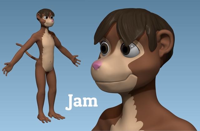 Jam Fursona CGI Reference 2015 by Monkey-Scientist