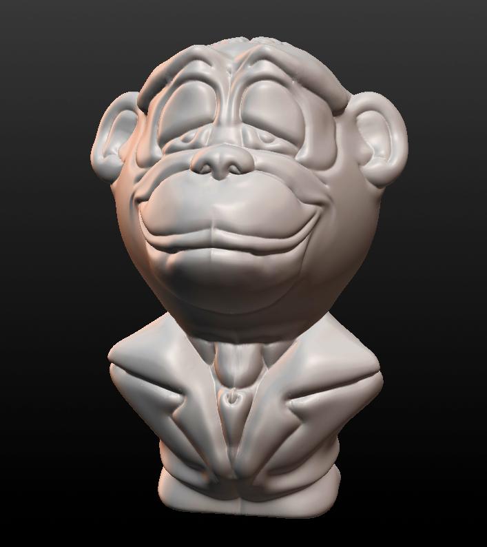 CGI Monkey Bust by Monkey-Scientist