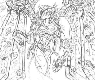 Gravewalker sketch.. by redhygog