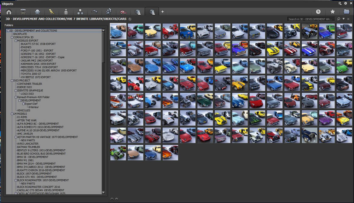 Vue 7 to 2016 3D cars personal collection by angelesteban078
