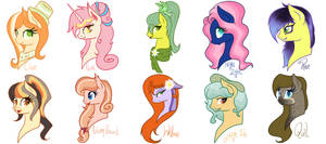 Most of my adopted ponies