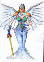 Angel with sword by parsek76