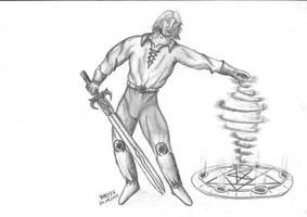 wizard with sword by parsek76